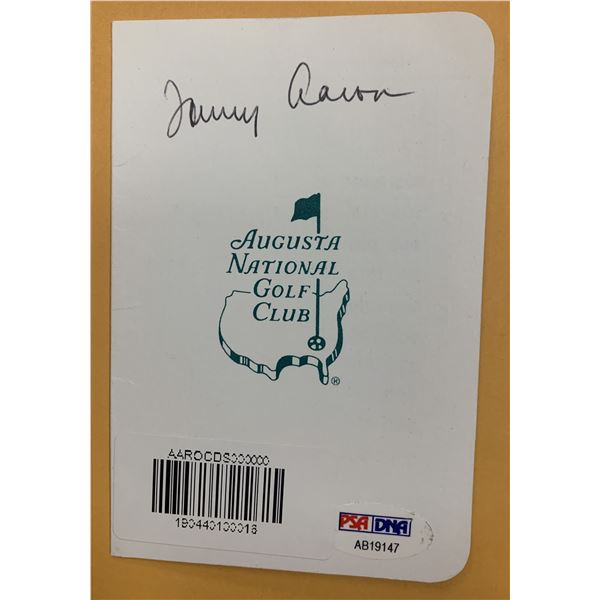Masters Champion Tommy Aaron signed scorecard. PSA
