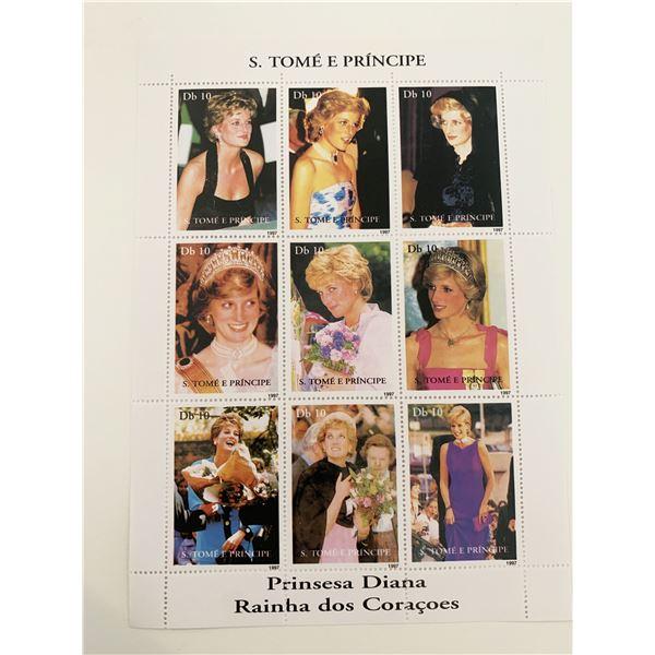 Diana Princess of Wales commemorative stamp set