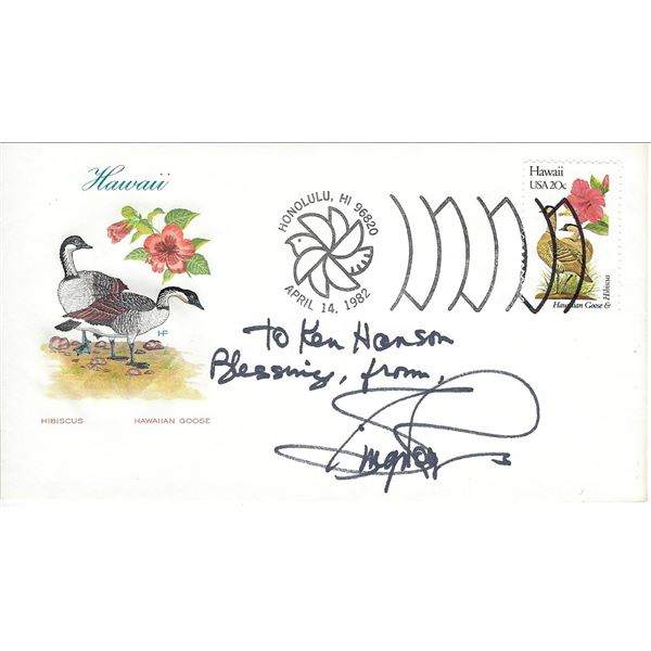 Ginger Rogers signed Hawaii first day cover