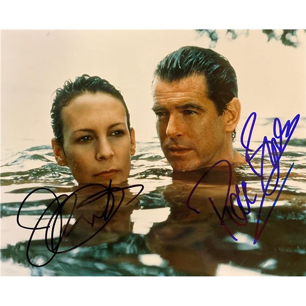 The Tailor of Panama Pierce Brosnan and Jamie Lee Curtis signed movie photo