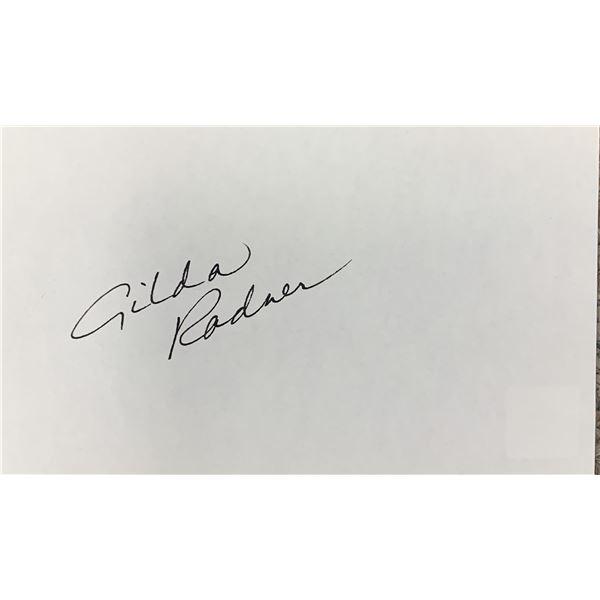 Gilda Radner original signature