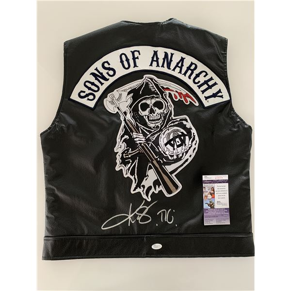 Kim Coates Sons Of Anarchy signed motorcycle vest