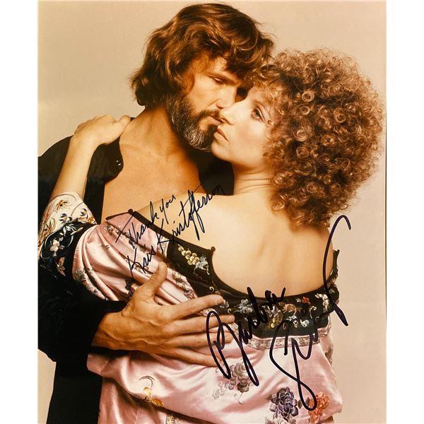 A Star Is Born (1976) Barbra Streisand and Kris Kristofferson signed movie photo