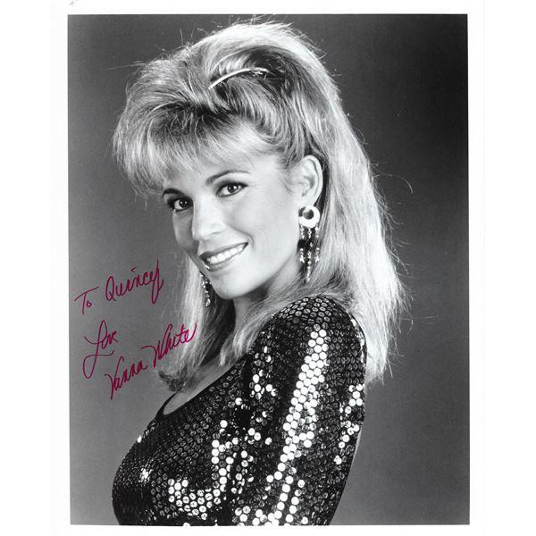 Vanna White signed Wheel of Fortune photo