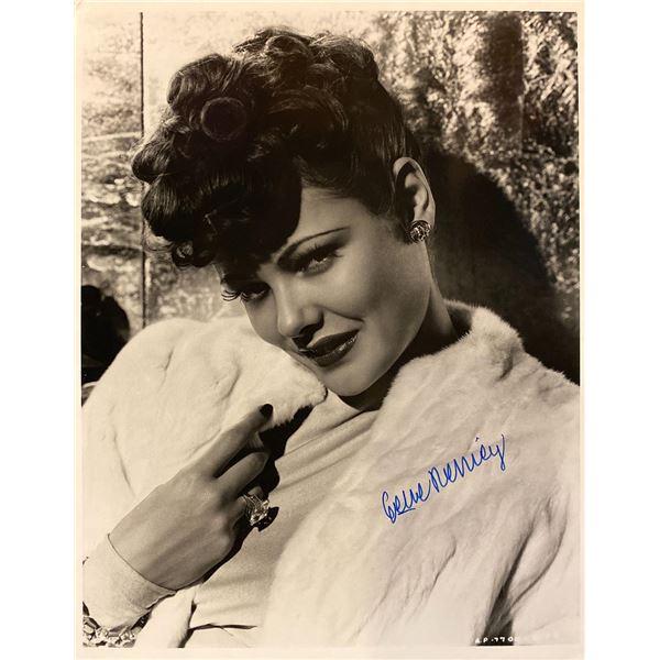 Gene Tierney signed photo