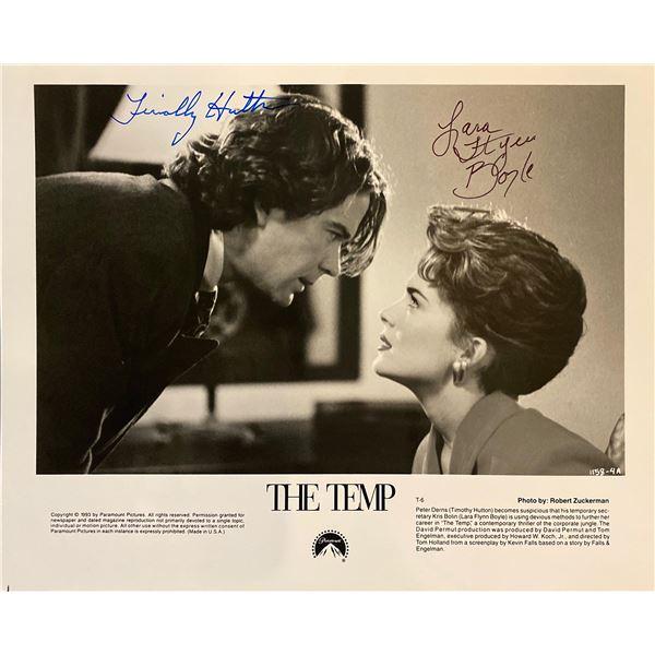 The Temp Lara Flynn Boyle and Timothy Hutton signed movie photo