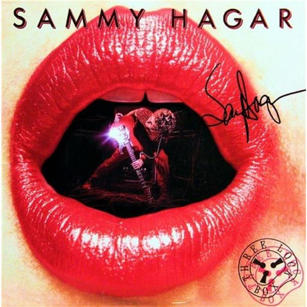 "Sammy Hagar signed ""Three Lock Box"" album"