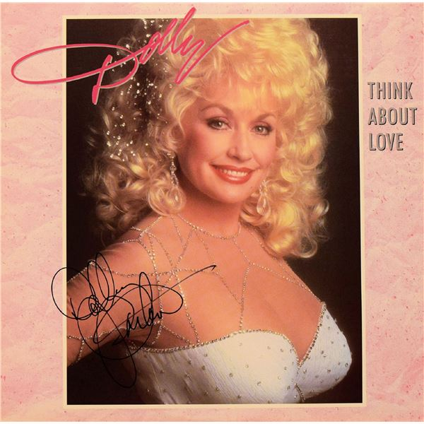 Dolly Parton signed Think About Love album