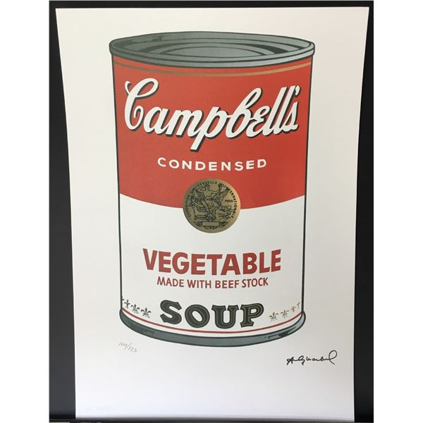 Andy Warhol Vegetable Soup LE Lithograph