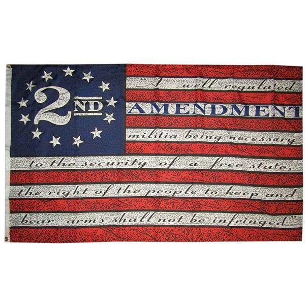 2nd Amendment American USA 13 Star Flag