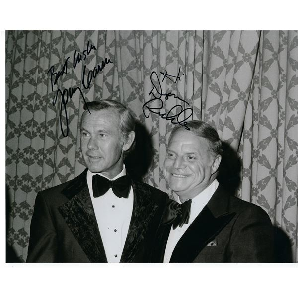 Johnny Carson and Don Rickles signed photo