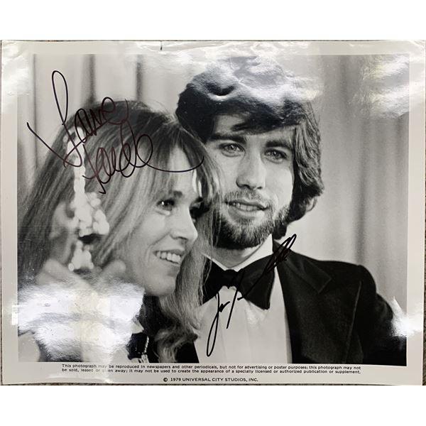 John Travolta and Jane Fonda signed photo