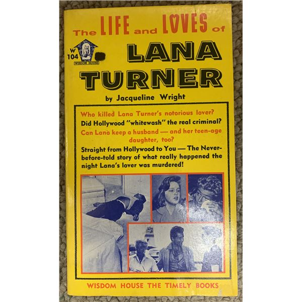 The Life And Loves Of Lana Turner unsigned book