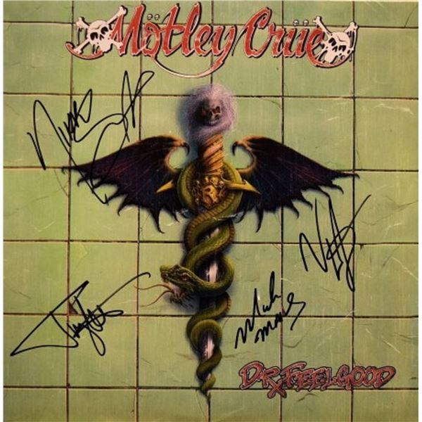 Motley Crue signed Dr. Feelgood album