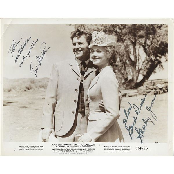 Oklahoma! Gordon MacRae and Shirley Jones signed movie photo