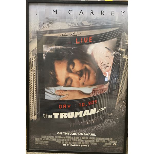 The Truman Show cast signed poster