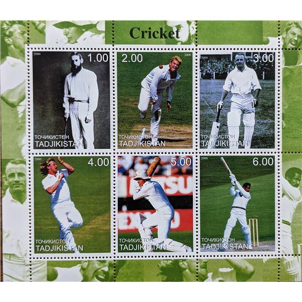 Cricket Stamp Sheet - Tadjikistan - Set Of 6 Stamps