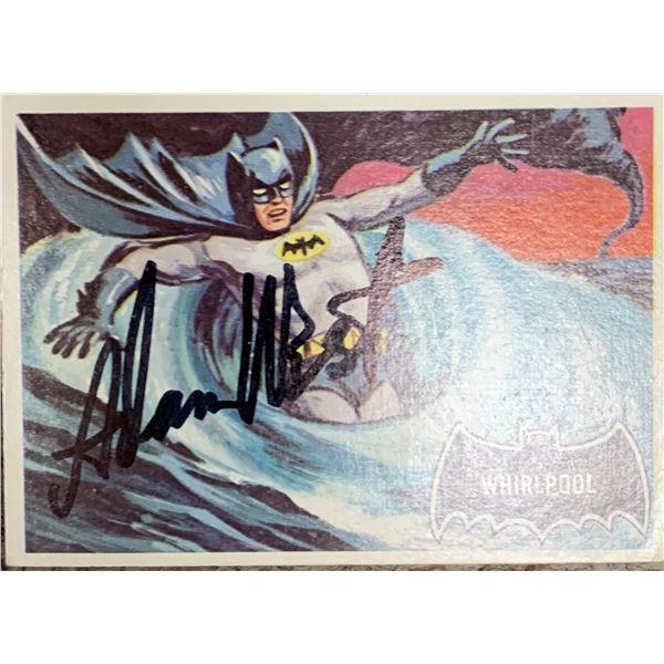 Adam West 1964 Batman signed trading card