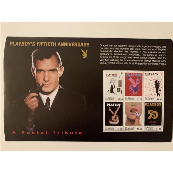 Playboy 50th Anniversary Commemerative Stamp set