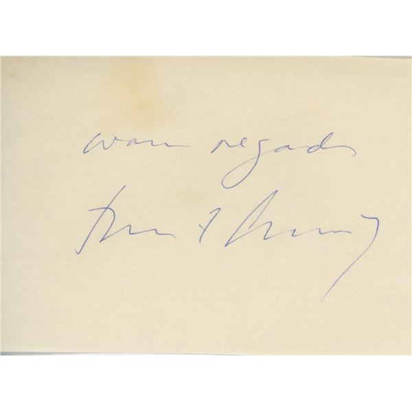 President John F. Kennedy signature cut