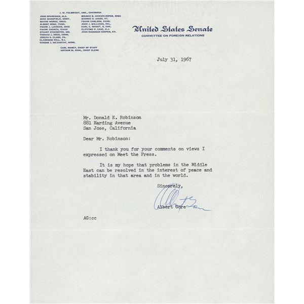 Al Gore signed letter