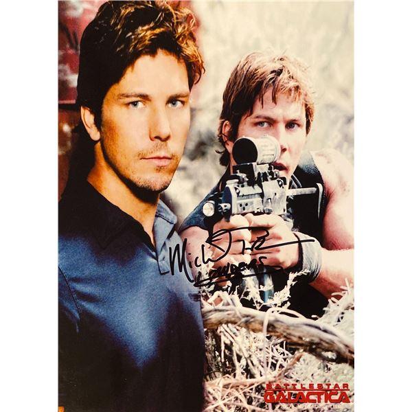 Battlestar Galactica Michael Trucco signed photo collage