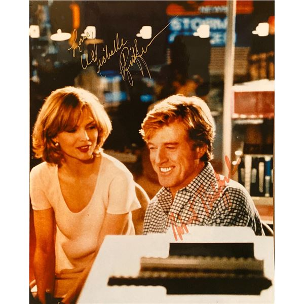 Up Close & Personal Michelle Pfeiffer and Robert Redford signed movie photo