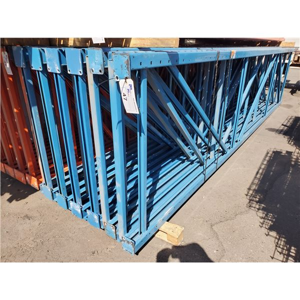 """ASSORTED INDUSTRIAL PALLET RACKING 12 - 16' X 42"""" ASSORTED UPRIGHTS, 74 ASSORTED 12' X 5"""", 9' X 5"""""""