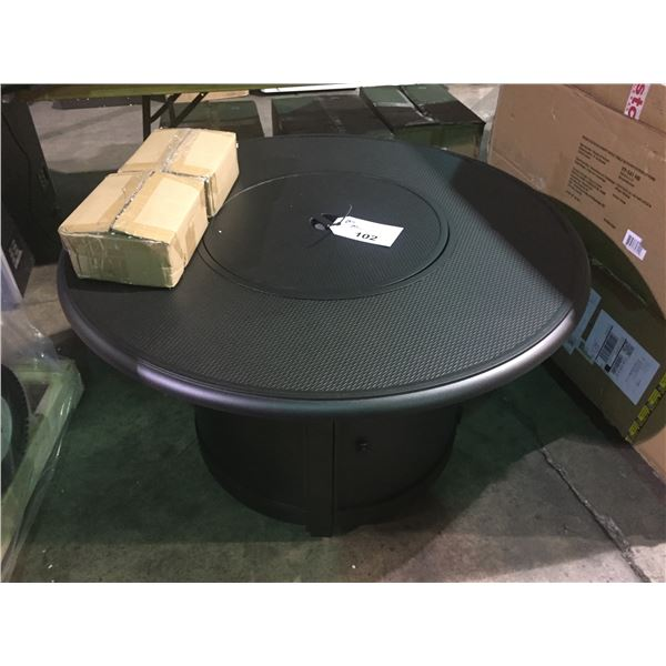 PARAMOUNT BRONZE ROUND OUTDOOR FIREPIT TABLE FP-541-HB