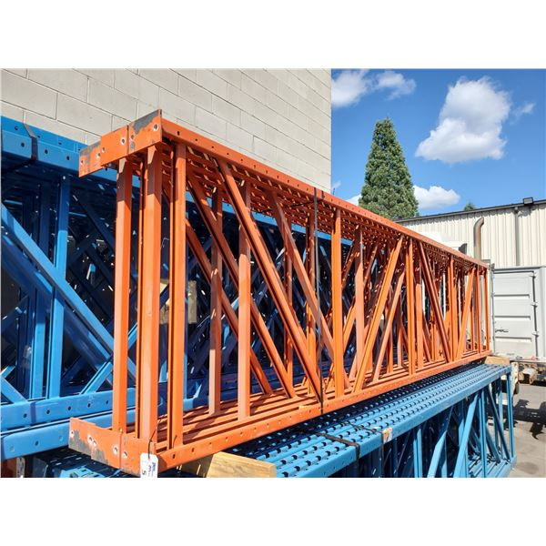 """5 - 16' X 42"""" INDUSTRIAL PALLET RACKING UPRIGHTS AND 19 - 12' X 5"""" CROSS BEAMS"""