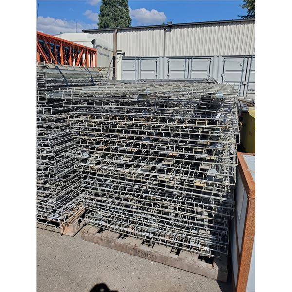 """PALLET OF APPROXIMATELY 48 INDUSTRIAL PALLET RACKING MESH DECK 46"""" X 43"""""""