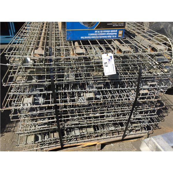 """PALLET OF APPROXIMATELY 32 INDUSTRIAL PALLET RACKING MESH DECK 46"""" X 43"""" AND BOX OF INDUSTRIAL"""