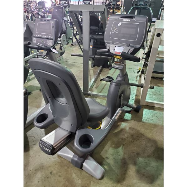 CYBEX 770R COMMERCIAL SELF POWERED RECUMBENT BIKE WITH DISPLAY, HEADPHONE JACK AND USB