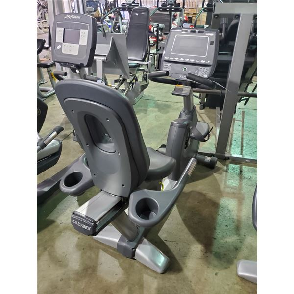 CYBEX 750R COMMERCIAL SELF POWERED RECUMBENT BIKE WITH DISPLAY