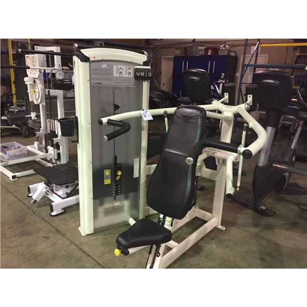 CYBEX VR3 COMMERCIAL VARIABLE WEIGHT OVERHEAD SHOULDER PRESS MACHINE