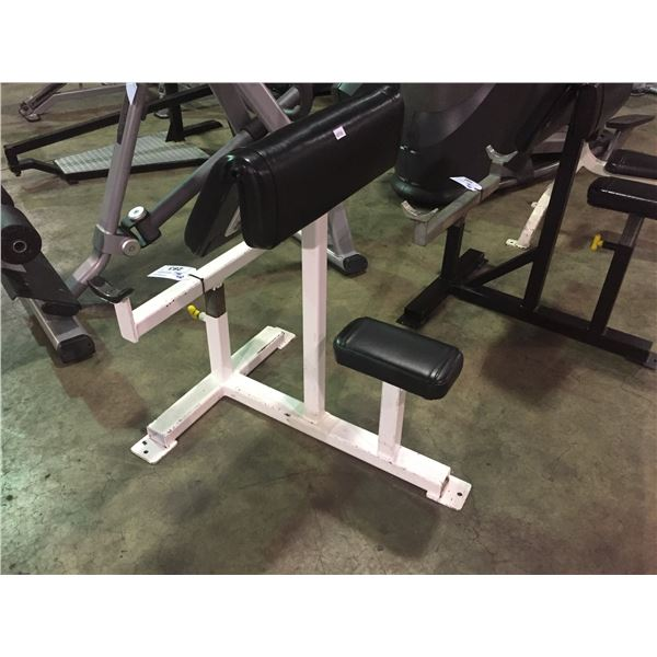 ADJUSTABLE COMMERCIAL FREE WEIGHT PREACHER BICEP CURL BENCH