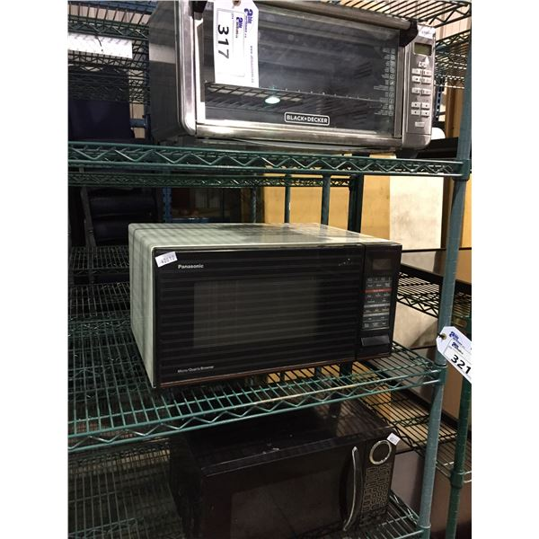 BLACK & DECKER TOASTER OVEN, PANASONIC MICROWAVE AND RCA MICROWAVE