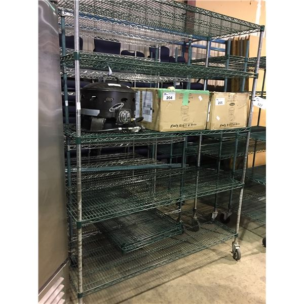 """3 ASSORTED 2 - 5 TIER MOBILE METRO STYLE RACKING W48"""" X D24"""" X H80"""" AND 1 - 5 TIER MOBILE METRO"""