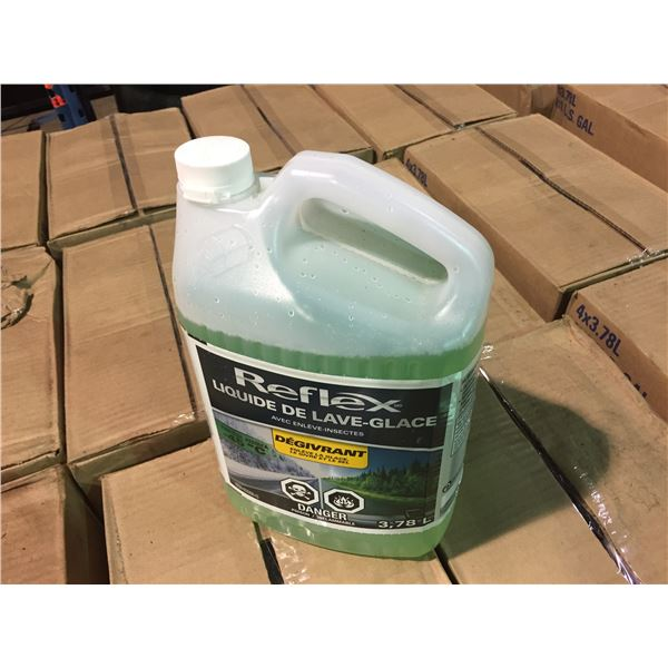 PALLET OF 24 BOXES OF REFLEX ALL SEASON WINDSHIELD WASHER FLUID PROTECTS UP TO -45C WITH BUG