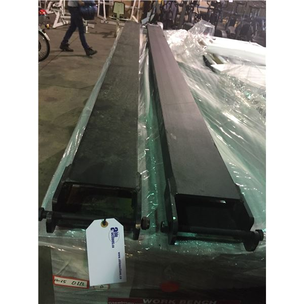 PAIR OF 10' FORKLIFT EXTENSIONS 6,600LBS CAPACITY