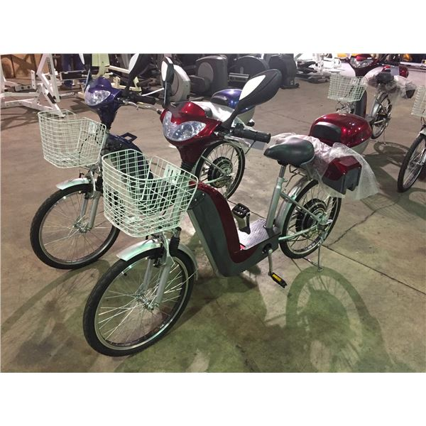 RED TDL802ZII ELECTRIC BICYCLE 165LBS CAPACITY, MAX SPEED 28KM/H WITH SPARE BATTERY