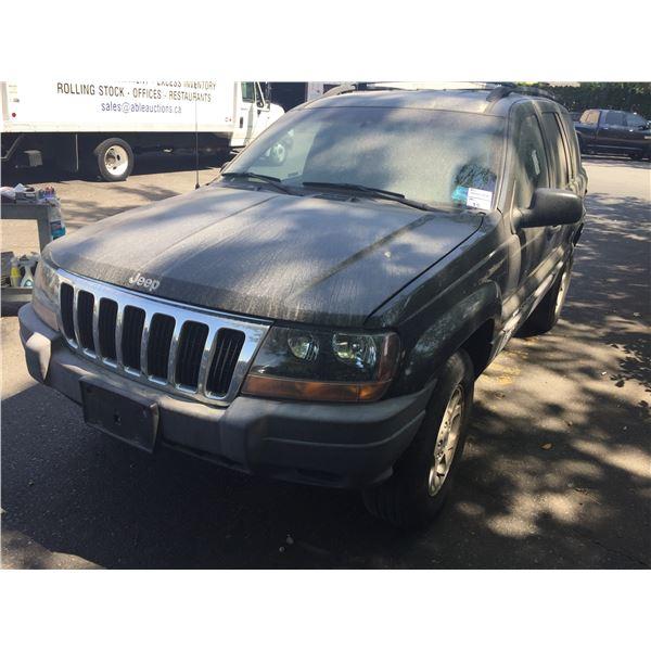 1999 JEEP GRAND CHEROKEE LAREDO, 4DR SUV, BLACK, VIN # 1J4GW58S4XC560008,