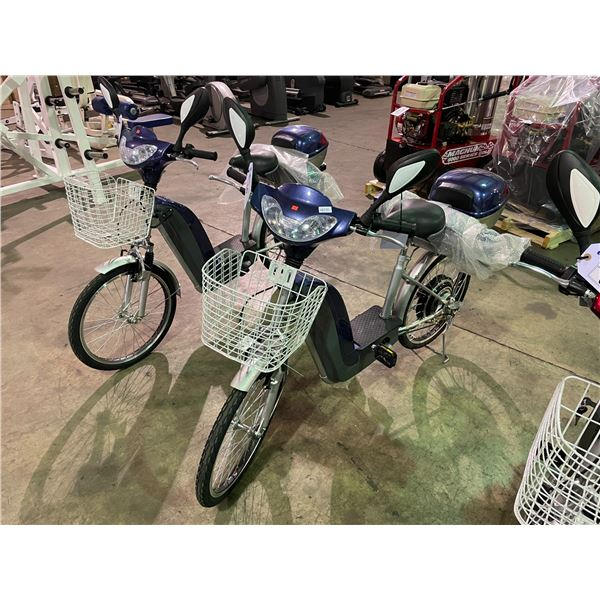 BLUE TDL802ZII ELECTRIC BICYCLE 165LBS CAPACITY, MAX SPEED 28KM/H WITH SPARE BATTERY