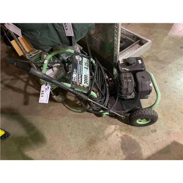 POWER IT 6.5HP 3000PSI MOBILE GAS PRESSURE WASHER WITH WAND AND HOSE