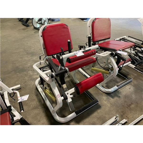 KEISER COMMERCIAL COMPRESSED AIR POWERED LEG CURL MACHINE