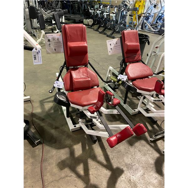 KEISER COMMERCIAL COMPRESSED AIR POWERED HIP ABDUCTOR MACHINE