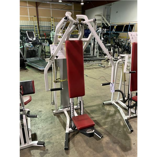 KEISER COMMERCIAL COMPRESSED AIR BIAXIAL CHEST PRESS MACHINE