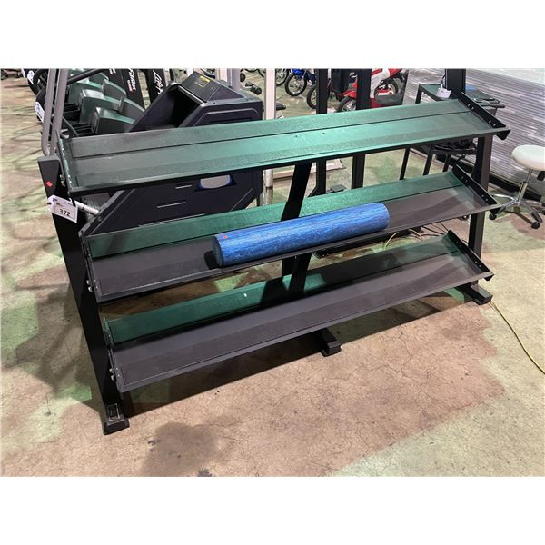 3 TIER COMMERCIAL FITNESS FREE WEIGHT DUMBBELL RACK