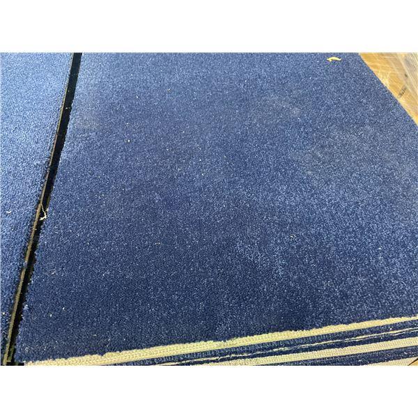 360 SQ. FT TOTAL OF BLUE COMMERCIAL CARPET TILES