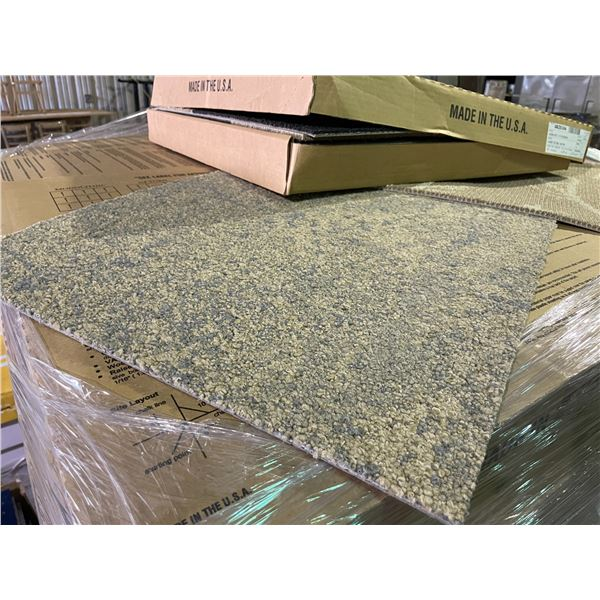 LARGE PALLET OF APPROXIMATELY 3,070 SQ. FT ASSORTED COMMERCIAL GRADE CARPET TILES